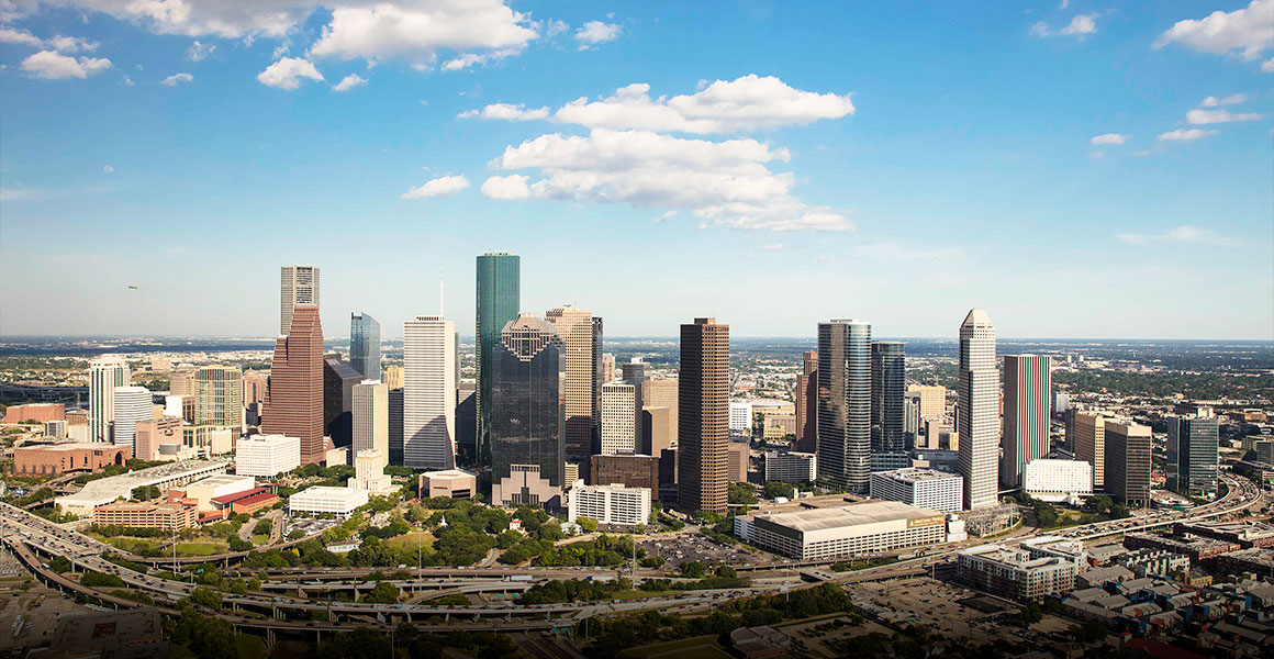 Skyline Houston Texas By Jim Olive